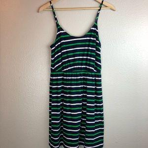 J. Crew Navy Striped Linen Dress Small